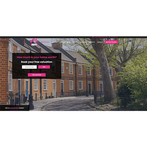 Moovd Property Auction, Our Latest Website Creation